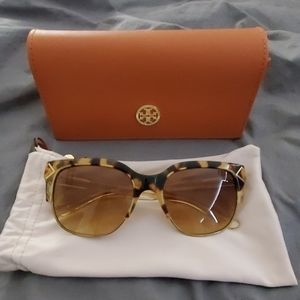 NWOT Tory Burch Half Rim Sunglasses